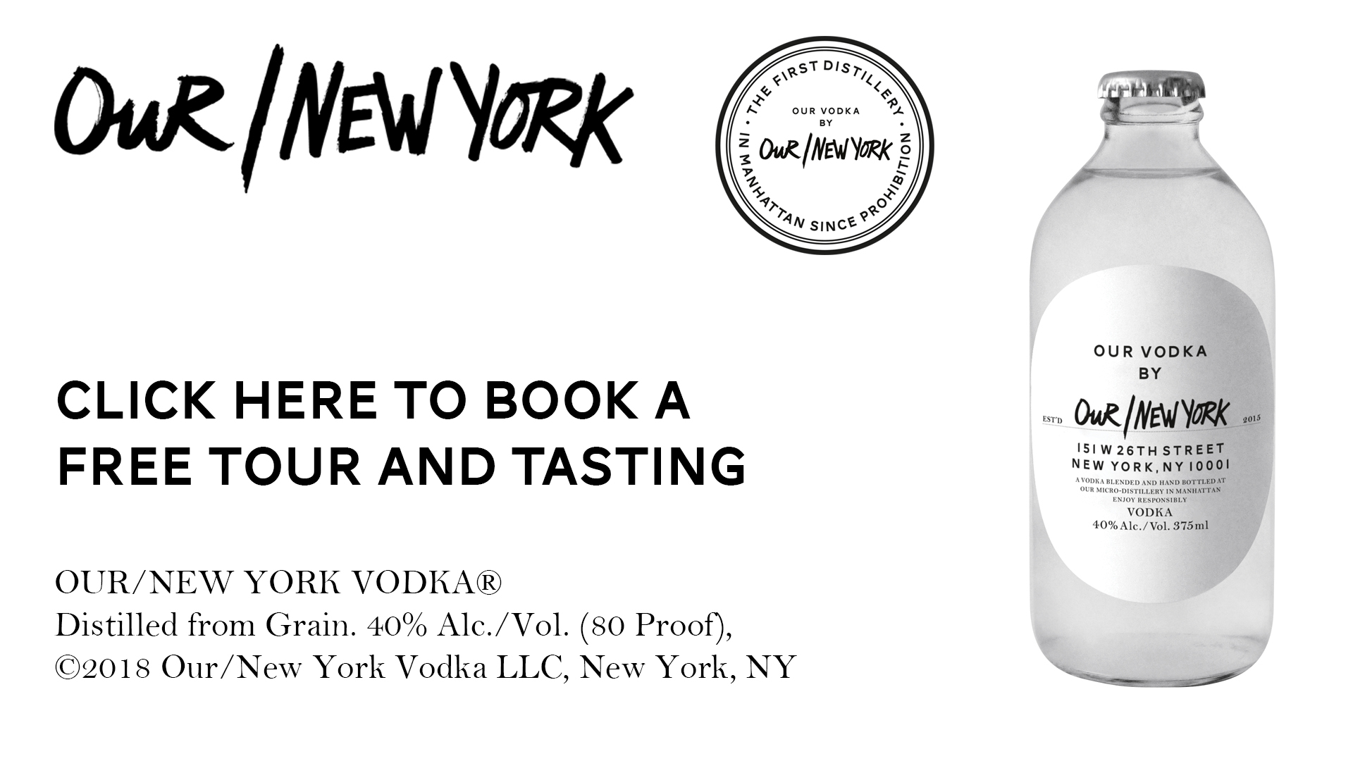 Book a free tour and tasting