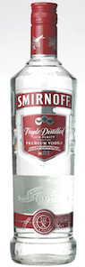 Smirnoff, top ten vodka